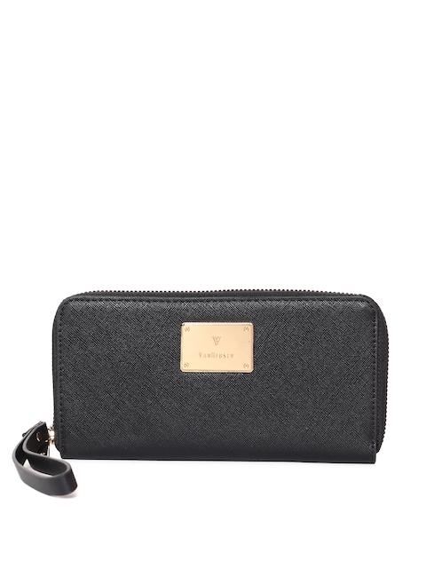 Van Heusen Woman Women Black Solid Zip Around Wallet