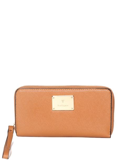 Van Heusen Woman Women Tan Solid Zip Around Wallet