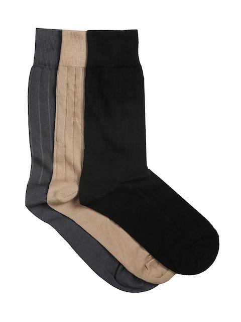 Van Heusen Men Pack of 3 Assorted Patterned Above Ankle Socks