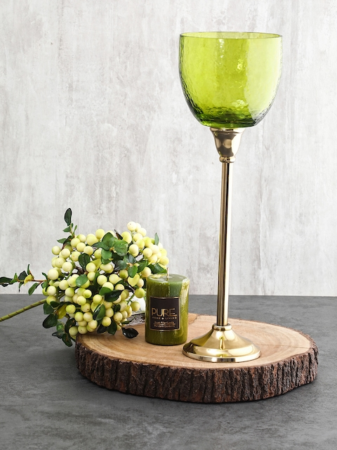 Pure Home and Living Green Candle Holder