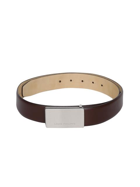 Louis Philippe Men Brown Textured Belt