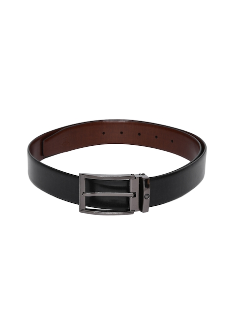 Louis Philippe Men Black Solid Belt