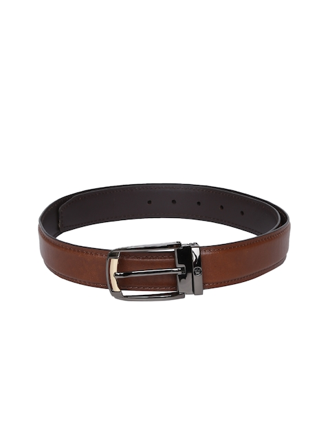 Louis Philippe Men Tan Solid Belt