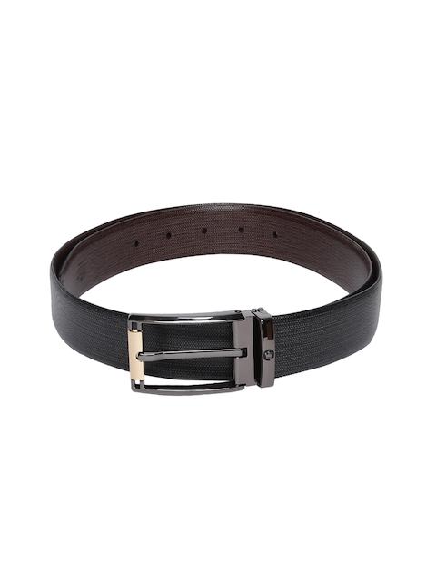 Louis Philippe Men Black Textured Belt