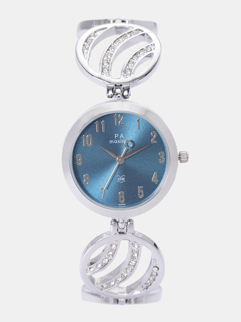 maxima Women Blue Analogue Watch O-44942BMLI