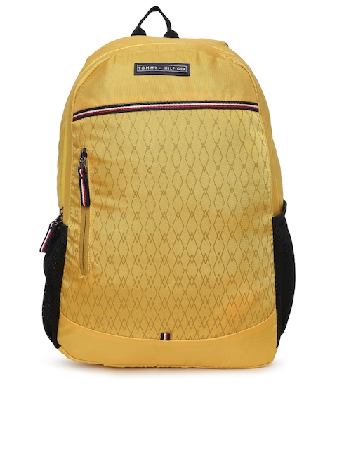 Tommy Hilfiger Unisex Yellow Printed Backpack