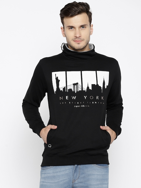 Duke Stardust Men Black & White Printed Sweatshirt
