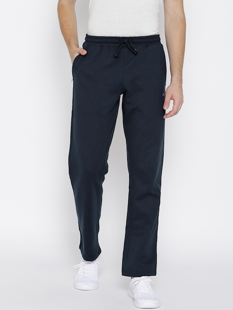 Monte Carlo Men Navy Blue Solid Track Pants