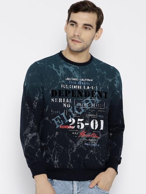 Monte Carlo Men Navy Blue Printed Sweatshirt