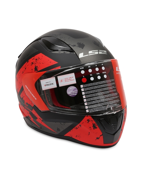 LS2 Black & Red RAPID DEADBOLT Full Face Helmet