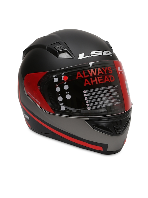 LS2 Men Black PISTONS MATT Printed Full Face Helmet LSII391317