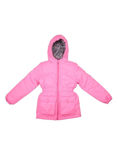 Allen Solly Junior Girls Pink Solid Puffer Jacket