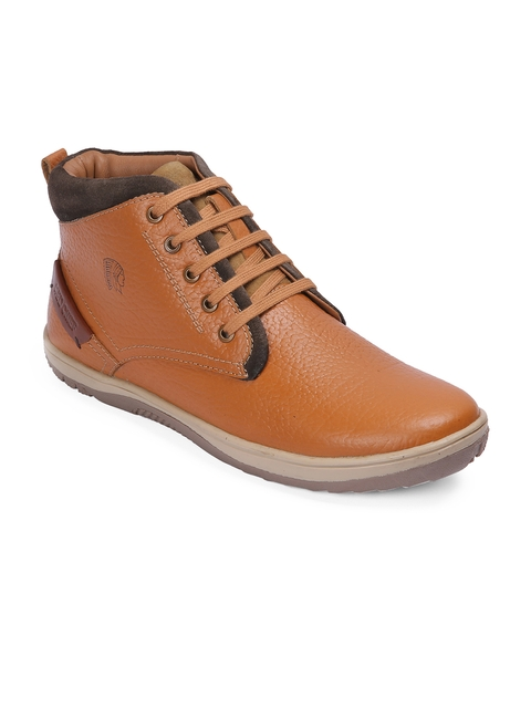 Red Chief Men Tan Leather Derbys