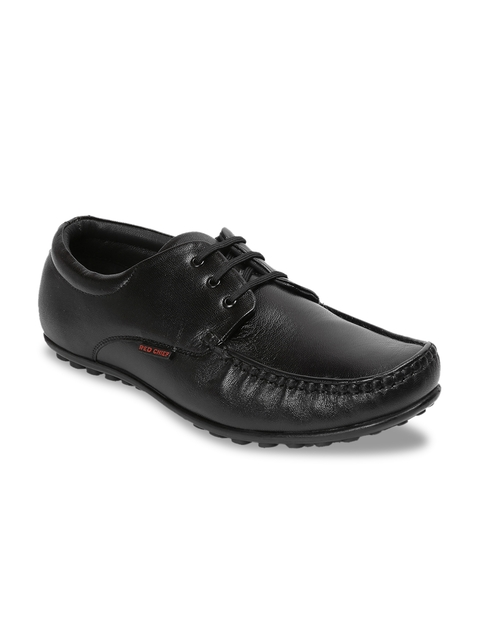 Red Chief Men Black Leather Smart Casual Shoes
