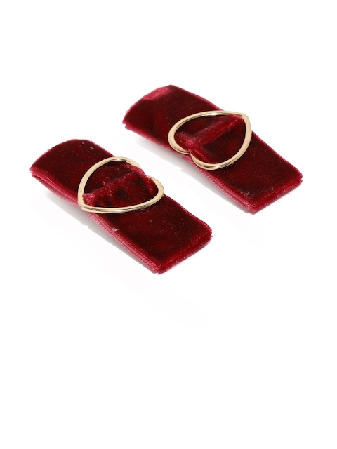 Accessorize Set of 2 Red Alligator Hair Clips