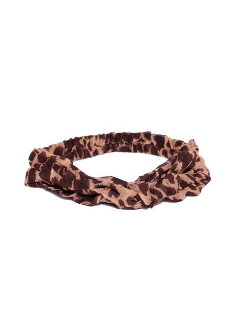 Tarbiya Kraft Women Brown Leopard-Print Hairband