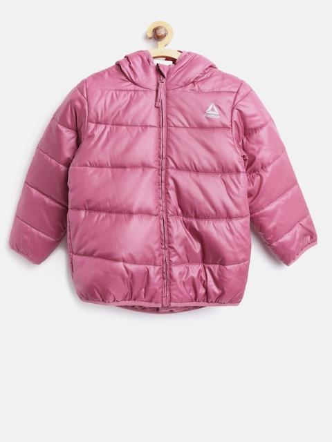 Reebok Kids Pink WOR PAD Training Puffer Jacket