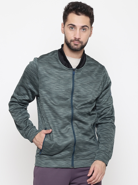 Reebok Men Green Fitness Track Jacket