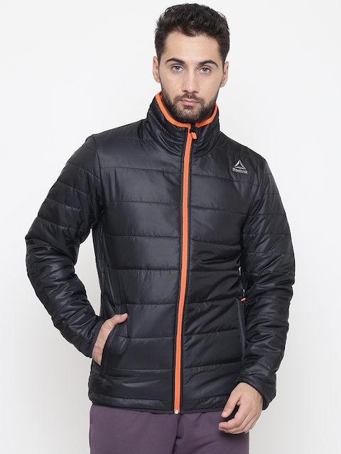 Reebok Men Black Solid MS Core Outdoor Puffer Jacket