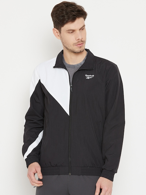 Reebok Classic Black & White LF Colourblocked Track Jacket