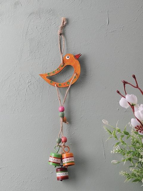 VarEesha Orange & Green Wall Hanging Bell Wind chime
