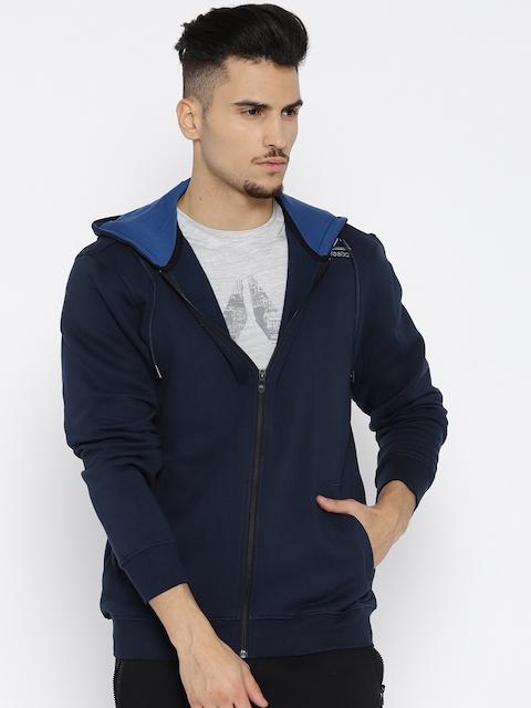 Reebok Men Navy Blue Solid CORE HOODY Sweatshirt