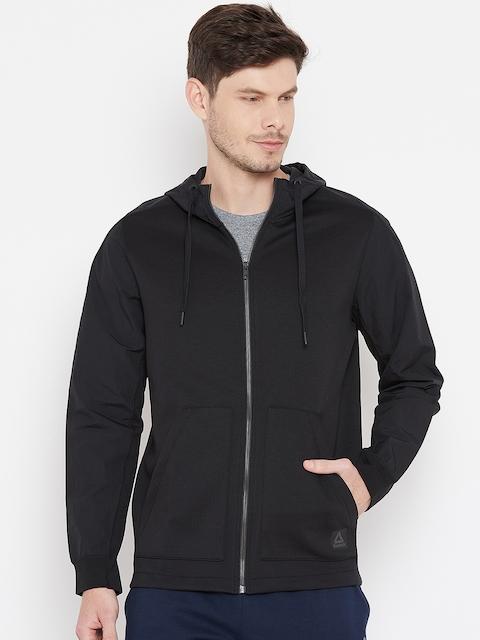 Reebok Black Supply Full-Zip Hooded Training Sweatshirt