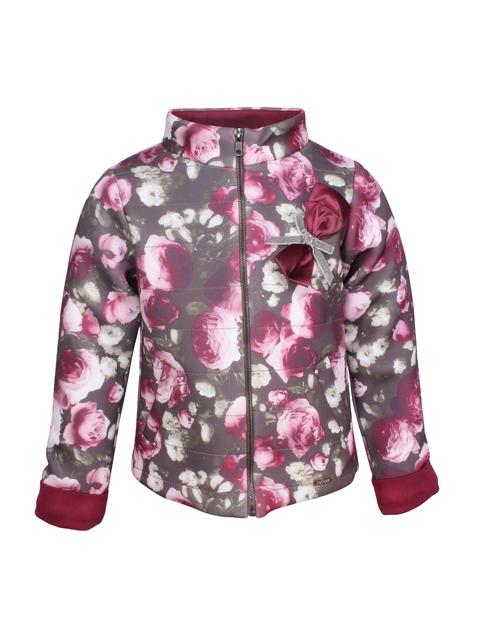 CUTECUMBER Girls Grey Printed Padded Jacket