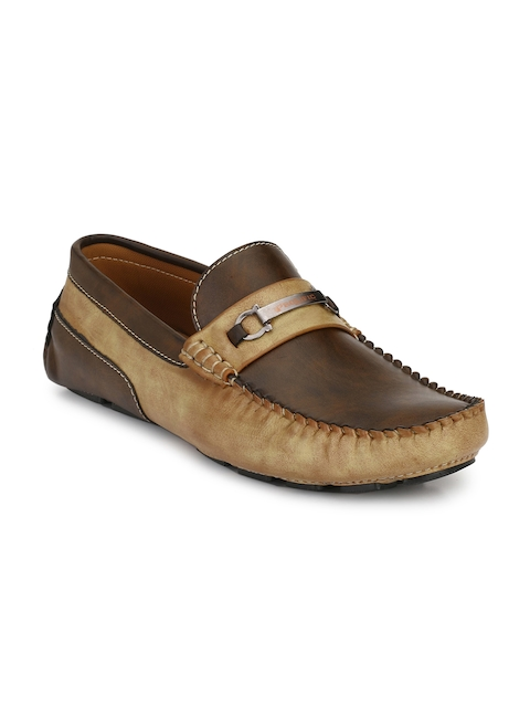 Prolific Men Beige Driving Shoes