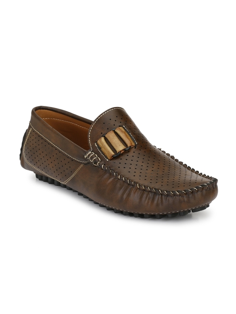Prolific Men Brown Driving Shoes