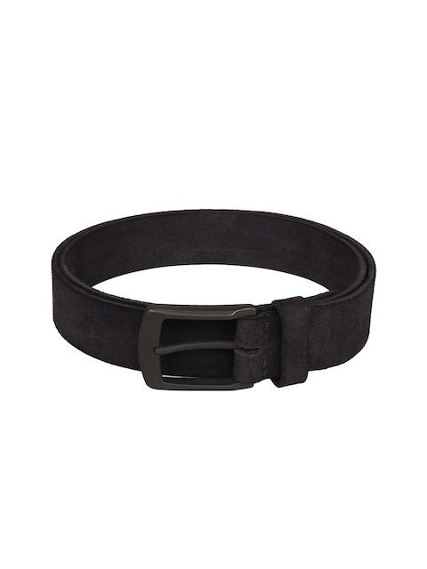 Aditi Wasan Men Navy Blue Solid Leather Belt