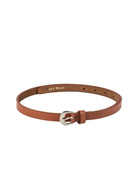 Aditi Wasan Women Brown Solid Leather Belt
