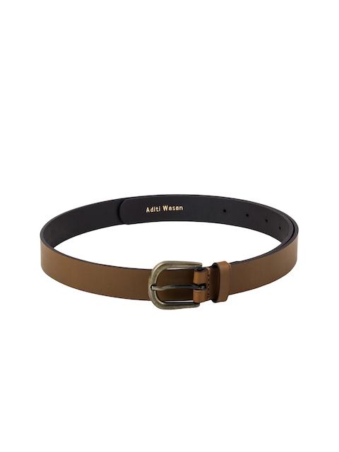 Aditi Wasan Women Brown Leather Solid Belt