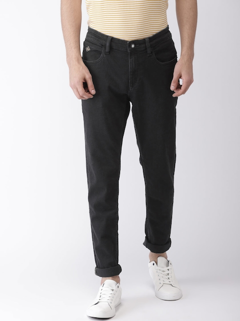 Arrow Sport Men Black Relaxed Fit Mid-Rise Clean Look Stretchable Jeans