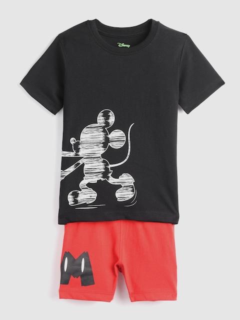 YK Disney Boys Black & Red Printed Night Suit 218YK DisneyKSLD59223