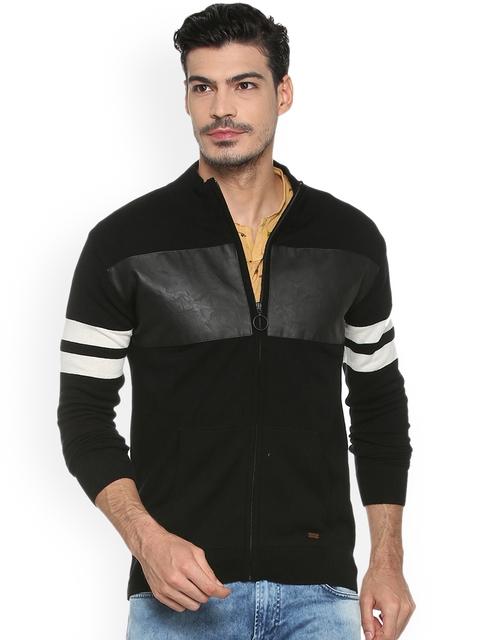 People Men Black Striped Sweatshirt