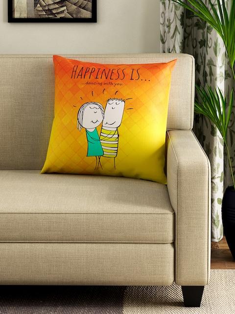 Portico New York Yellow & Orange Square 40 cm x 40 cm Cushion