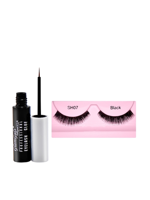 GlamGals Stylish Eye Lashes with Glue Transparent 6.5 ml