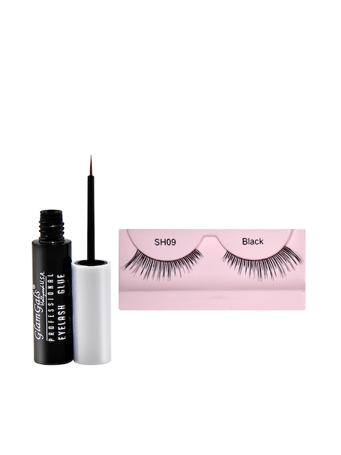 GlamGals Stylish Eye Lashes with Transparent Glue 6.5 ml