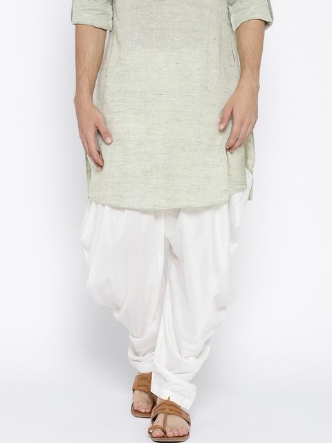 Chitwan Mohan White Solid Salwar