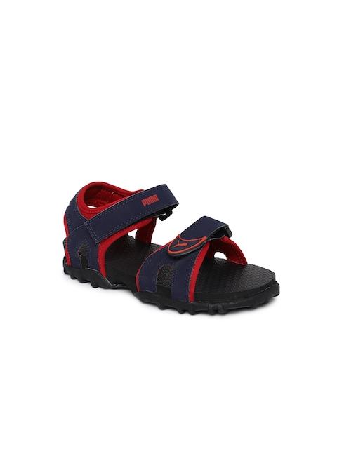 Puma Kids Navy Blue Track PS IDP Sports Sandals