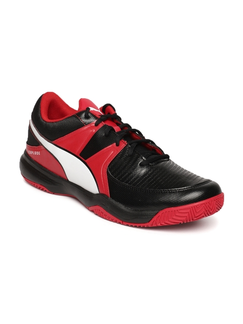 2e08bcd3cd8 50%off Puma Men Black   Red Explode 3 Badminton Shoes