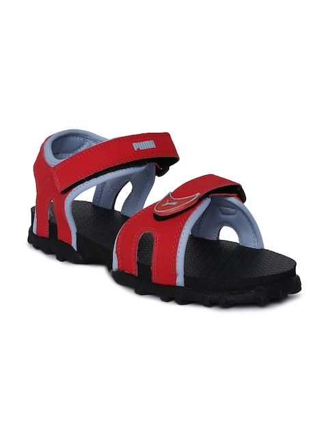 Puma Kids Red Track Junior Sports Sandals