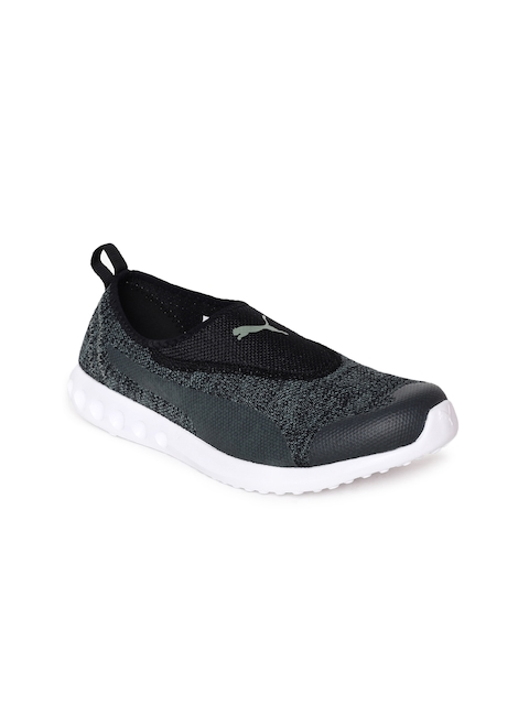 Puma Women Charcoal Grey & Black Carson 2 Slip-On IDP Walking Shoes