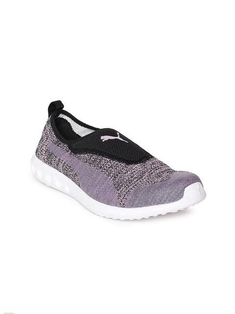 Puma Women Grey Melange & Black Carson 2 IDP Walking Shoes