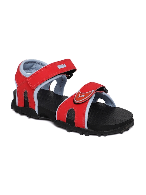 Puma Kids Red Track PS IDP Sports Sandals