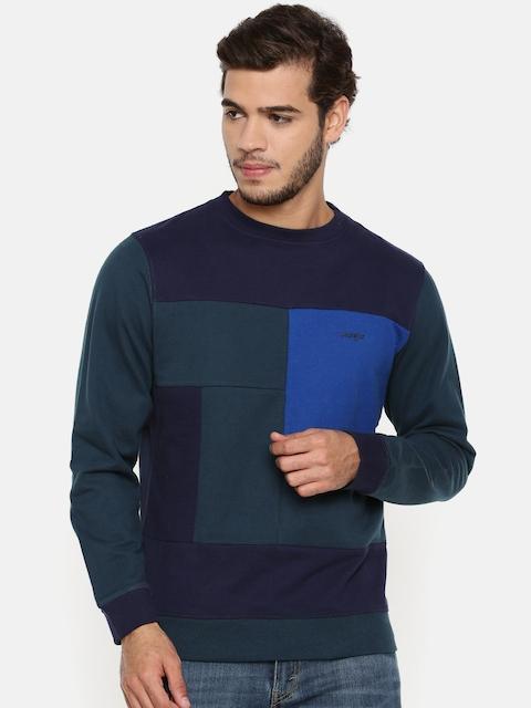 Wrangler Men Blue Colourblocked Sweatshirt