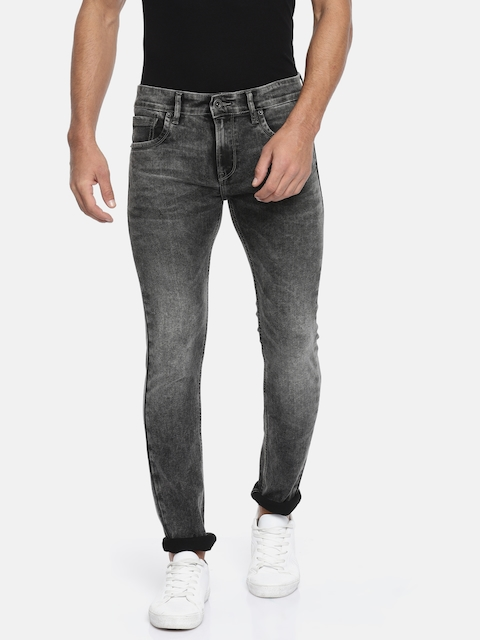 Pepe Jeans Men Black Shay Skinny Fit Low-Rise Clean Look Stretchable Jeans