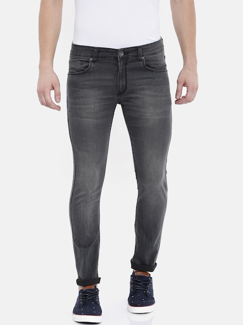 Pepe Jeans Men Black Skinny Fit Low-Rise Clean Look Stretchable Jeans