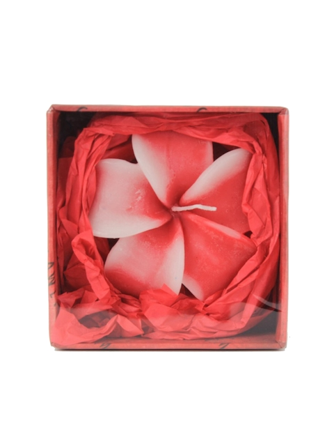 Soulflower Rose Aroma Hibiscus Shape Big Floating Candle